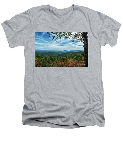 Atop The Mountain Men's V-Neck T-Shirt