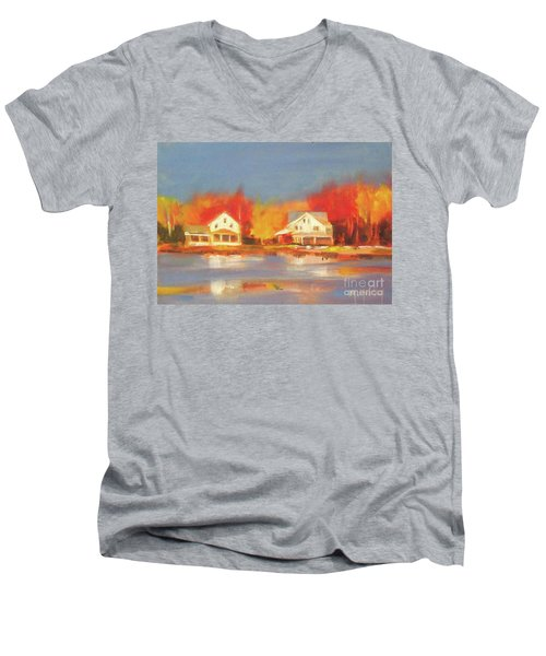 Atsion Lake Men's V-Neck T-Shirt