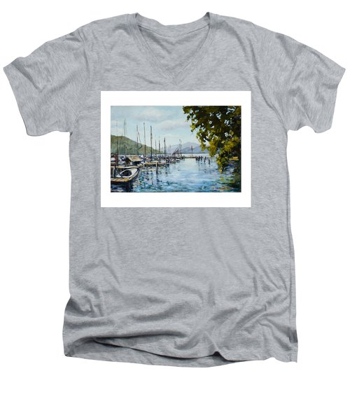 Attersee Austria Men's V-Neck T-Shirt by Alexandra Maria Ethlyn Cheshire