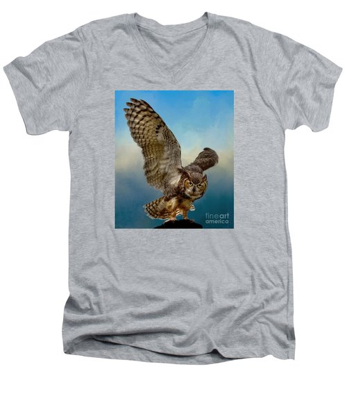 Men's V-Neck T-Shirt featuring the photograph Attitude Is Everything by Myrna Bradshaw
