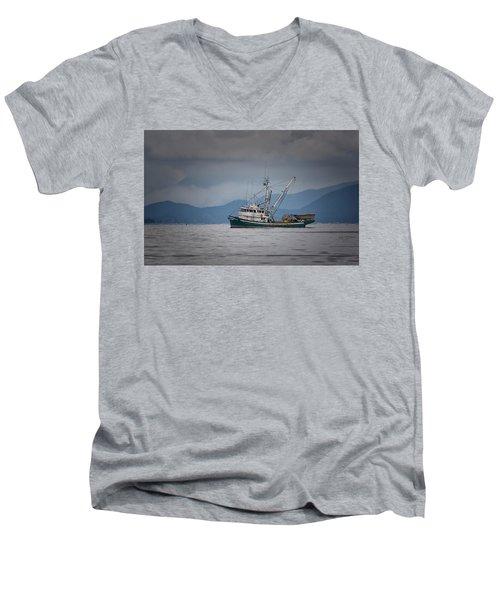Attu Off Madrona Men's V-Neck T-Shirt by Randy Hall