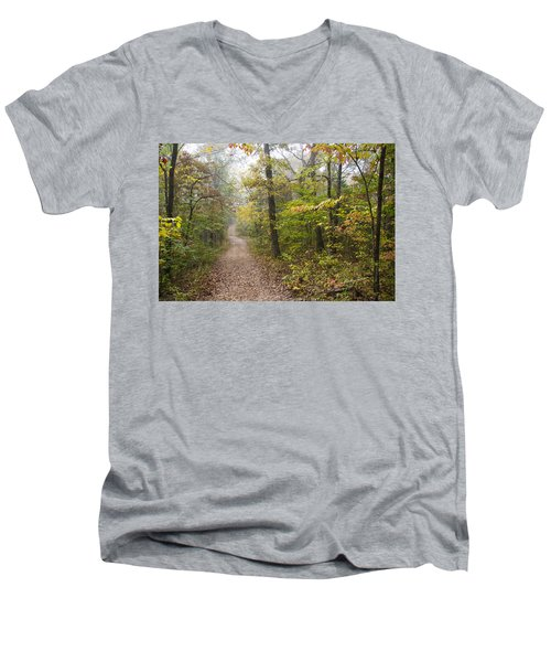 Autumn Afternoon Men's V-Neck T-Shirt by Ricky Dean