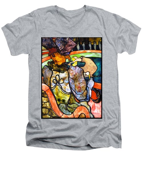 Au Nouveau Cirque Men's V-Neck T-Shirt by Pg Reproductions
