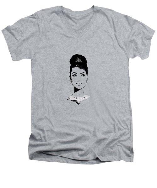 Audrey In Tiffany Blue Men's V-Neck T-Shirt