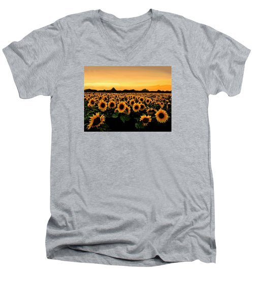August 2015 Men's V-Neck T-Shirt
