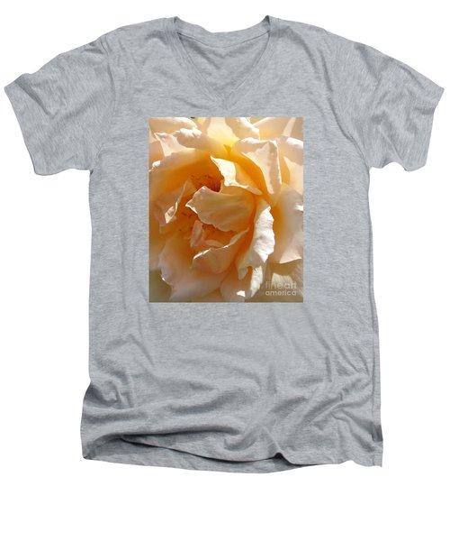 August Rose 1 Men's V-Neck T-Shirt by Fred Wilson