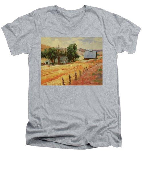 August Men's V-Neck T-Shirt