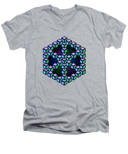 Aurelia Cube Men's V-Neck T-Shirt