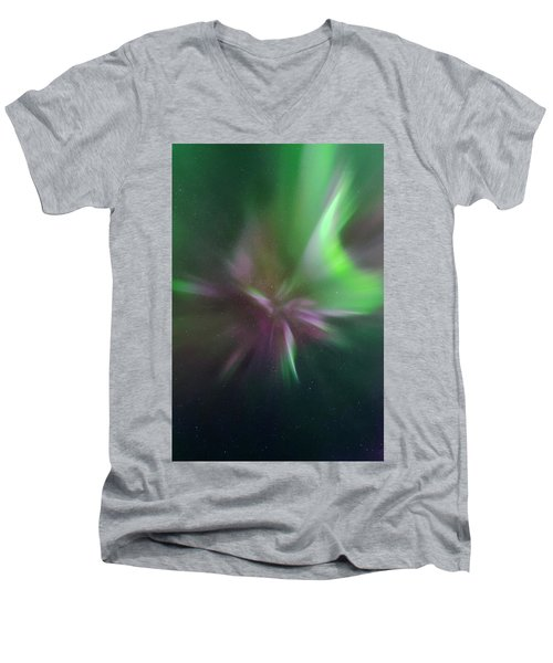 Aurora Borealis Corona Men's V-Neck T-Shirt
