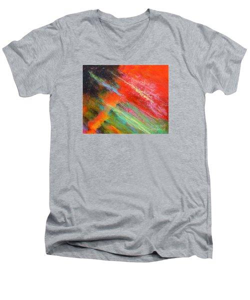 Fantasies In Space Painting Series. Title. Aurora De Fiero. Men's V-Neck T-Shirt
