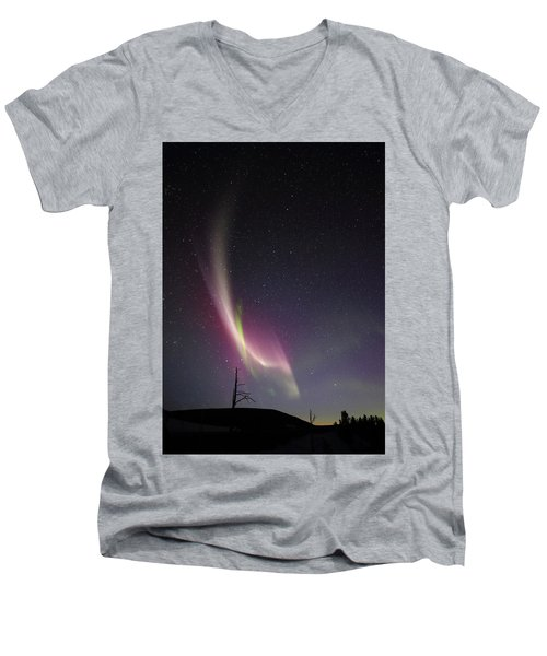 auroral Phenomonen known as Steve, 5 Men's V-Neck T-Shirt