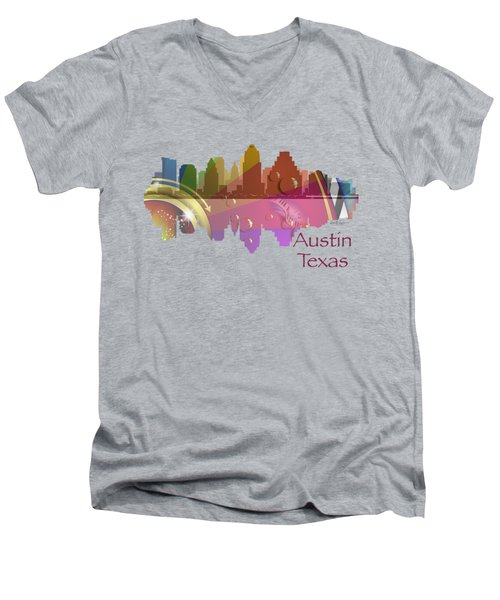 Austin Texas Skyline For Apparel Men's V-Neck T-Shirt