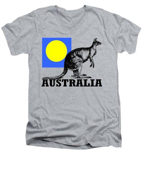 Australia-kangaroo Men's V-Neck T-Shirt