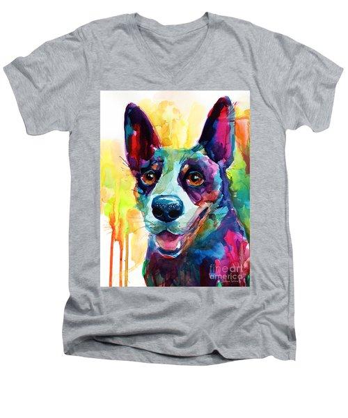 Australian Cattle Dog Heeler Men's V-Neck T-Shirt