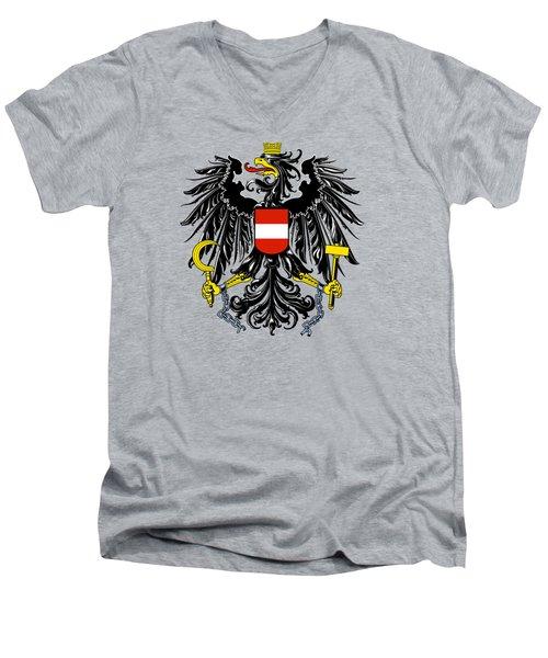 Austria Coat Of Arms Men's V-Neck T-Shirt