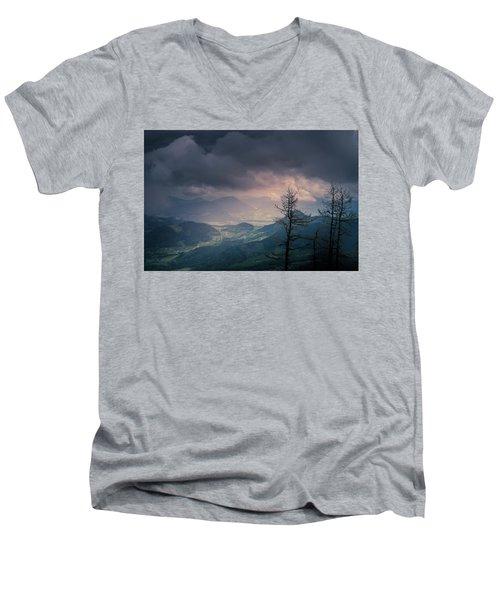 Austrian Alps Men's V-Neck T-Shirt