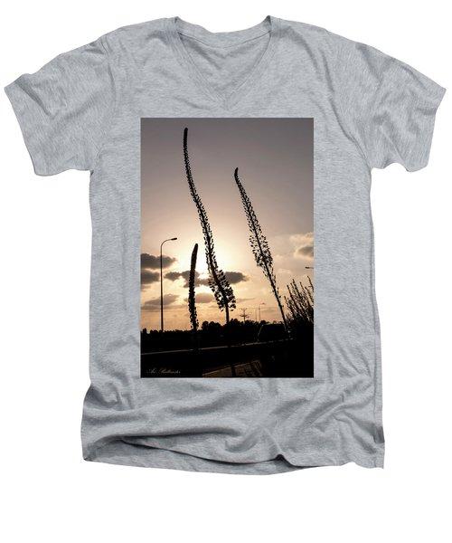 Autumn Alarm 02 Men's V-Neck T-Shirt