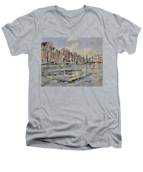Autumn Along The Amstel In Amsterdam Men's V-Neck T-Shirt
