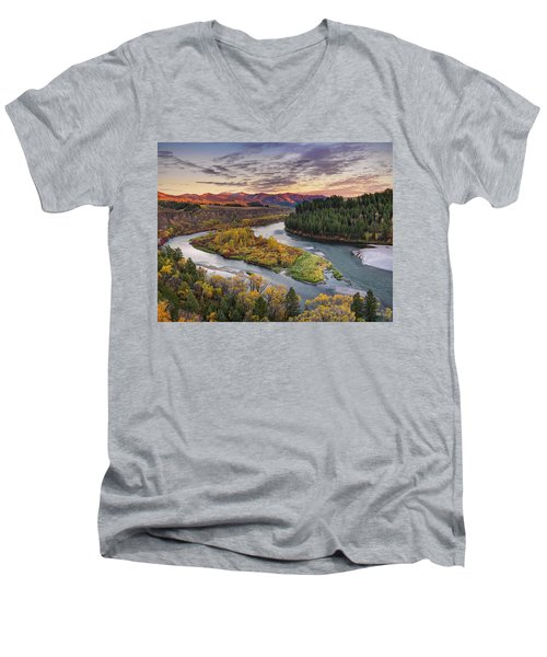 Autumn Along The Snake River Men's V-Neck T-Shirt