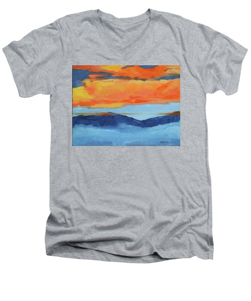 Autumn Alpenglow Men's V-Neck T-Shirt