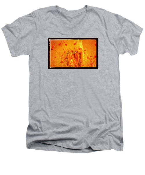 Autumn Angel Men's V-Neck T-Shirt