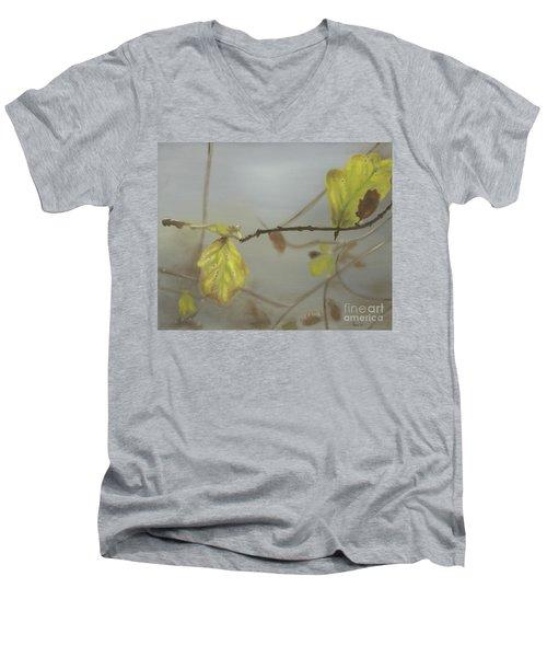 Men's V-Neck T-Shirt featuring the painting Autumn by Annemeet Hasidi- van der Leij