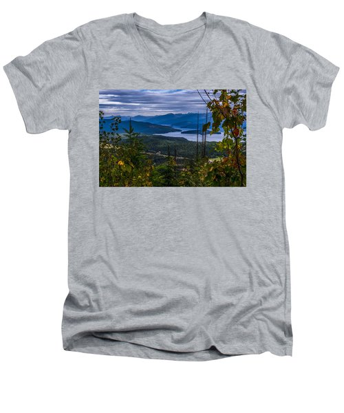 Autumn At Priest Lake Men's V-Neck T-Shirt by Yeates Photography