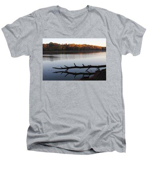 Autumn At The Lake Men's V-Neck T-Shirt