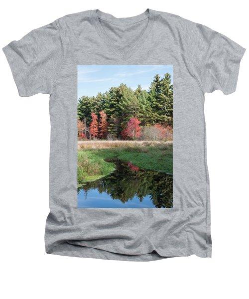 Autumn At The River Men's V-Neck T-Shirt