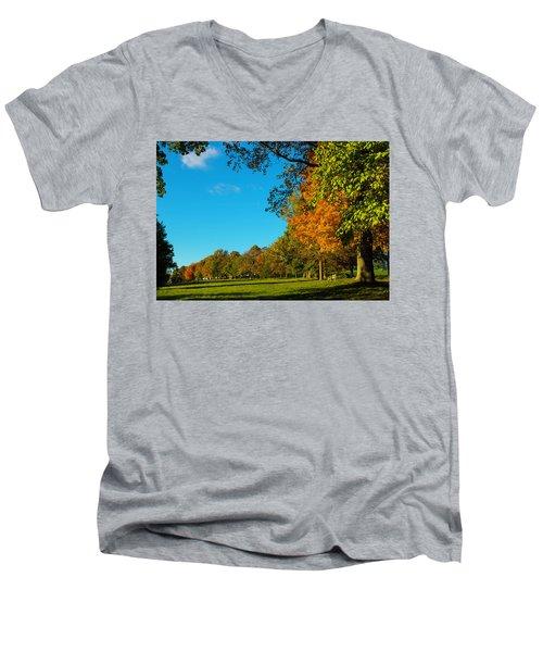 Autumn At World's End Men's V-Neck T-Shirt
