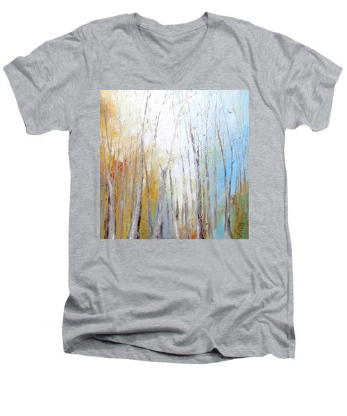 Autumn Bliss Men's V-Neck T-Shirt by Dina Dargo