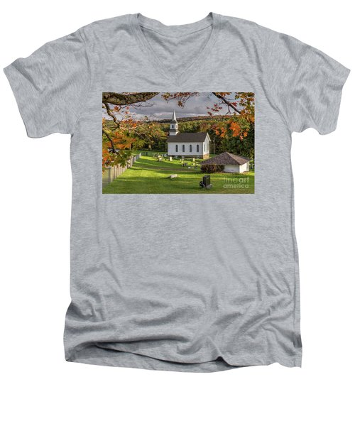 Autumn Church Men's V-Neck T-Shirt