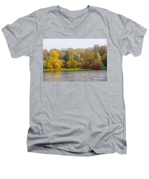 Autumn Colous Men's V-Neck T-Shirt