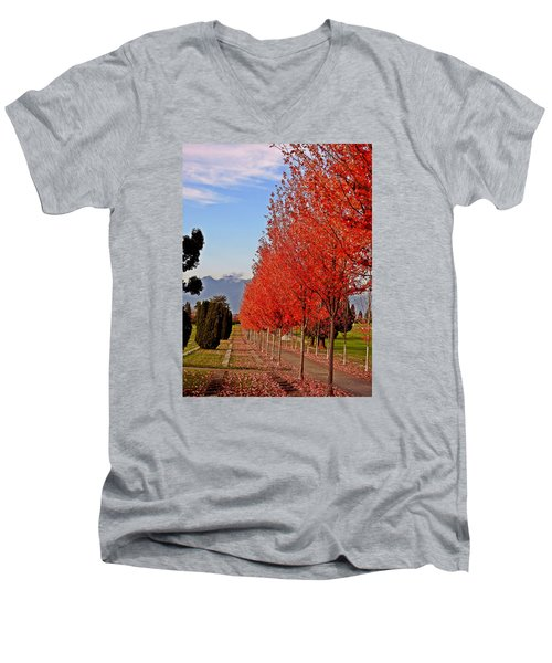 Autumn Delight, Vancouver Men's V-Neck T-Shirt by Brian Chase
