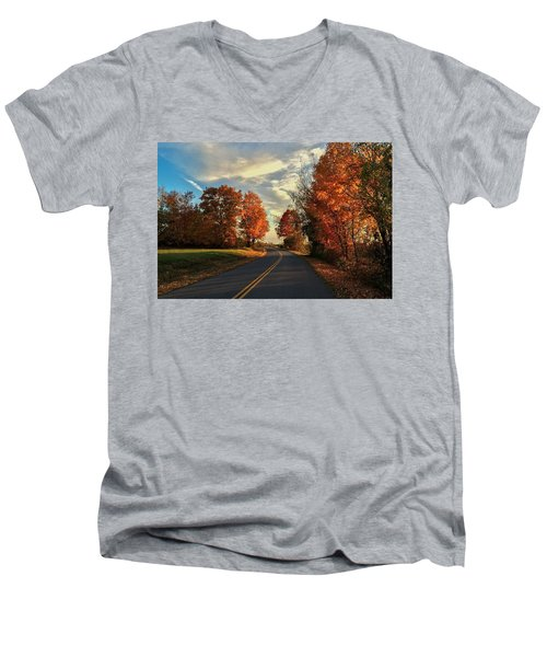 Autumn Drive Men's V-Neck T-Shirt