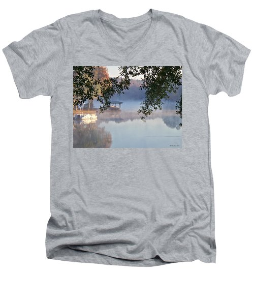 Autumn Fog Men's V-Neck T-Shirt by Betty Northcutt