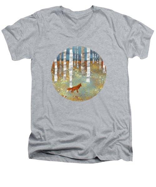 Autumn Fox Men's V-Neck T-Shirt