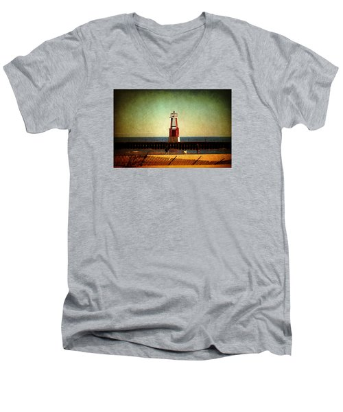 Autumn Fun In Chicago Men's V-Neck T-Shirt