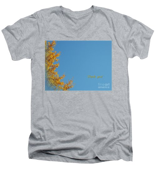 Autumn Ginkgo Tree Men's V-Neck T-Shirt