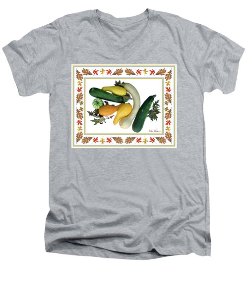 Autumn Harvest Men's V-Neck T-Shirt by Lise Winne