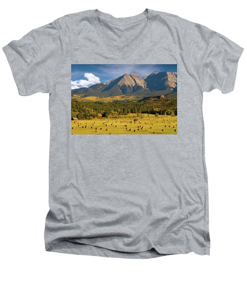 Autumn Hay In The Rockies Men's V-Neck T-Shirt