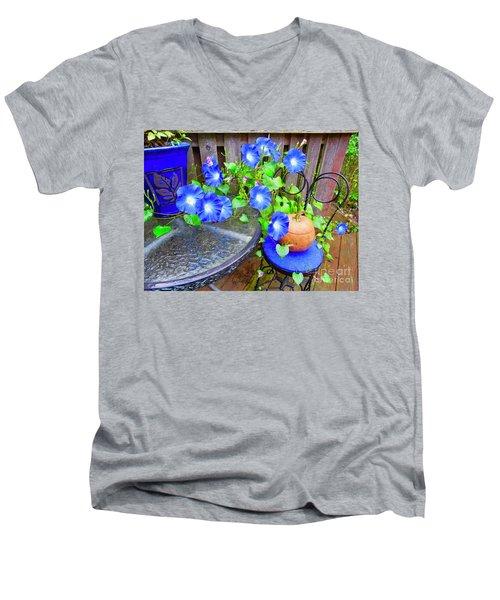 Autumn Heavenly Blues  Men's V-Neck T-Shirt