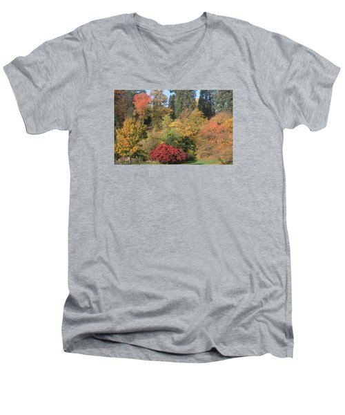 Men's V-Neck T-Shirt featuring the photograph Autumn In Baden Baden by Travel Pics