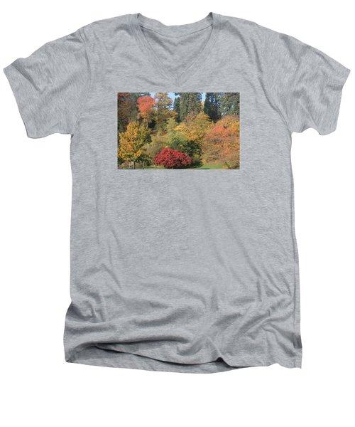 Autumn In Baden Baden Men's V-Neck T-Shirt by Travel Pics