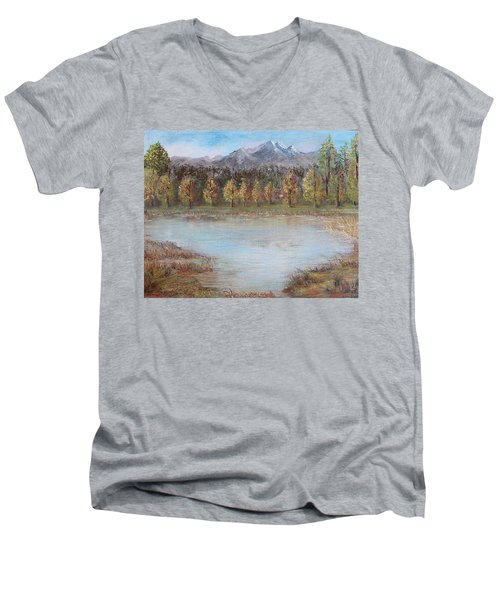 Autumn In Maule Men's V-Neck T-Shirt