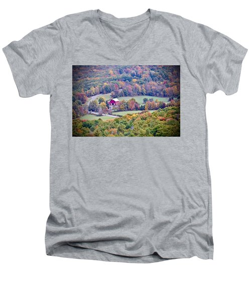 Autumn View, Mohonk Preserve Men's V-Neck T-Shirt