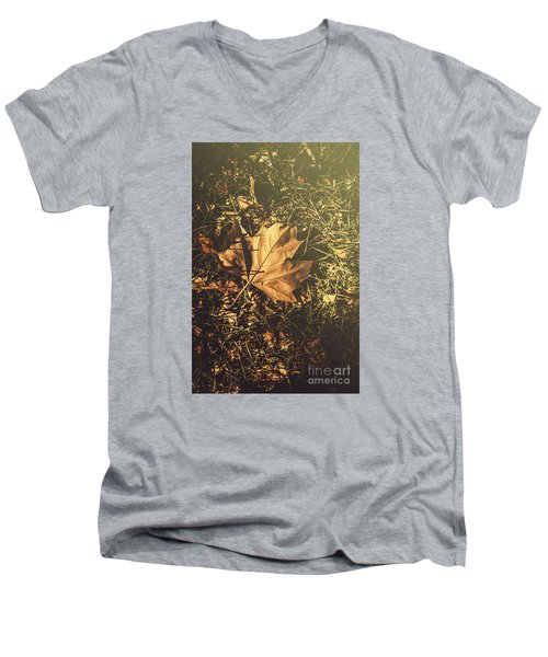 Men's V-Neck T-Shirt featuring the photograph Autumn In Narrandera by Jorgo Photography - Wall Art Gallery