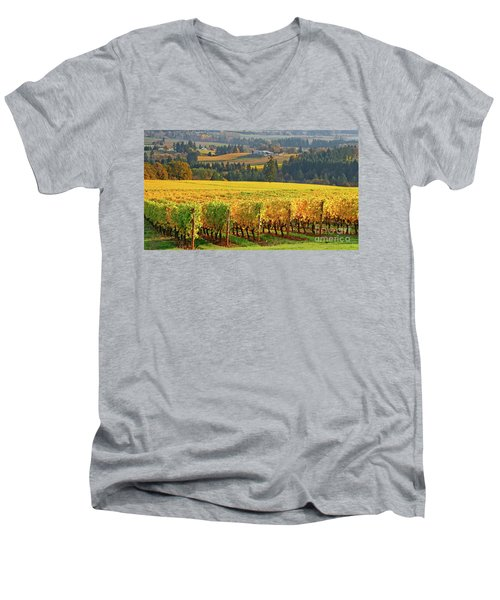 Autumn In Oregon Wine Country Men's V-Neck T-Shirt