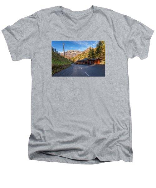 Autumn In Slovenia Men's V-Neck T-Shirt by Robert Krajnc