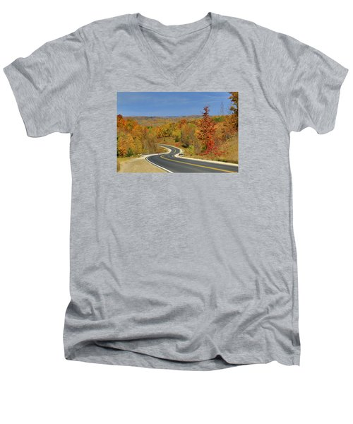 Autumn In The Hockley Valley Men's V-Neck T-Shirt